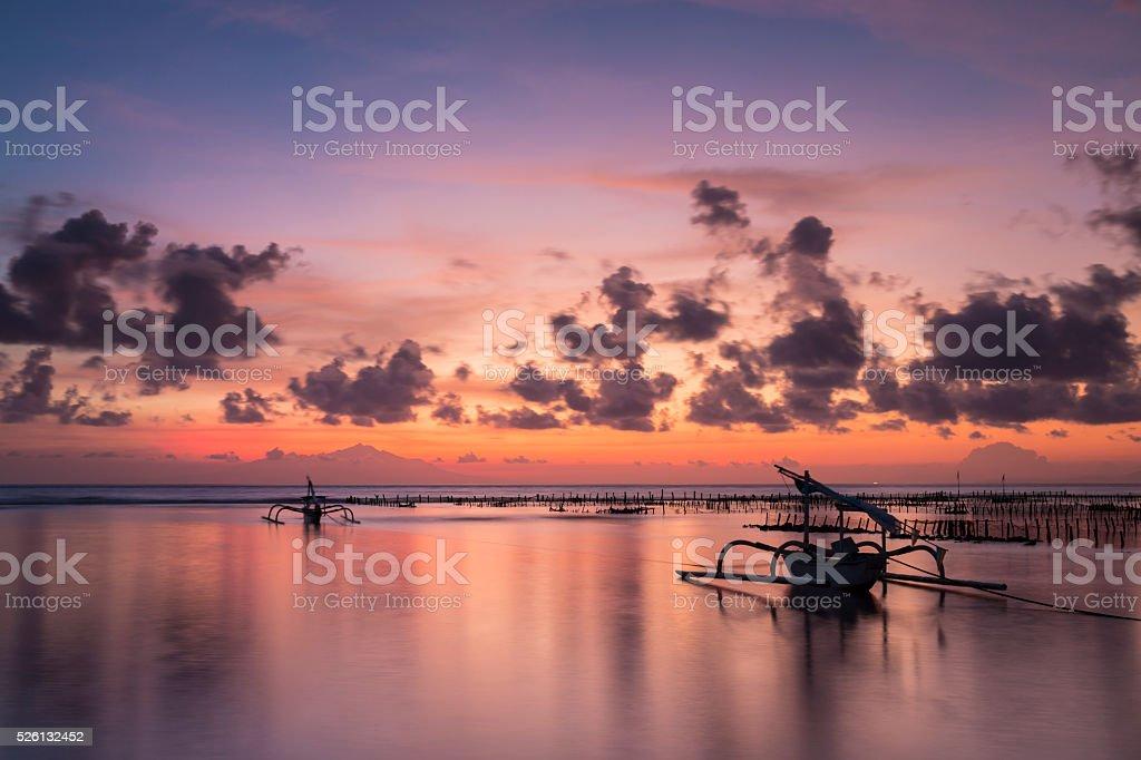 Sunrise in Nusa Penida island of Bali stock photo