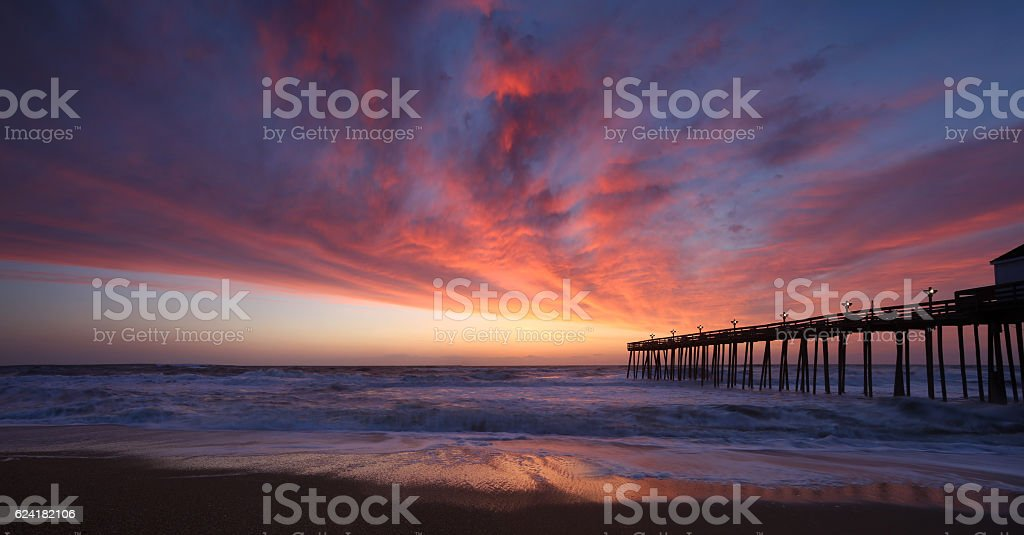 Sunrise in OBX stock photo