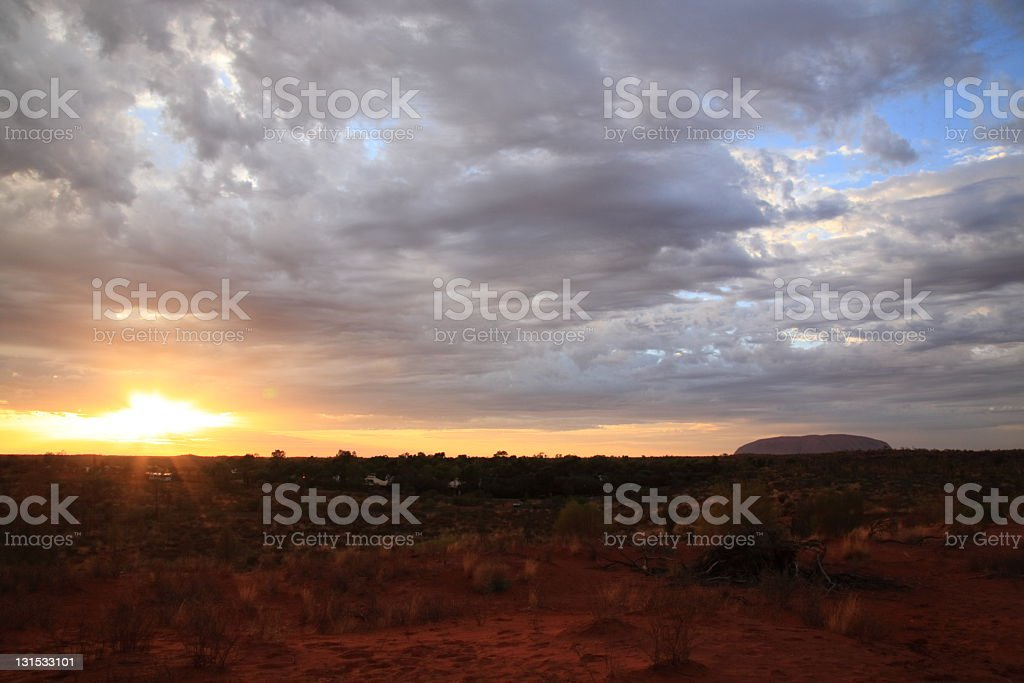 Sunrise in outback Australia royalty-free stock photo