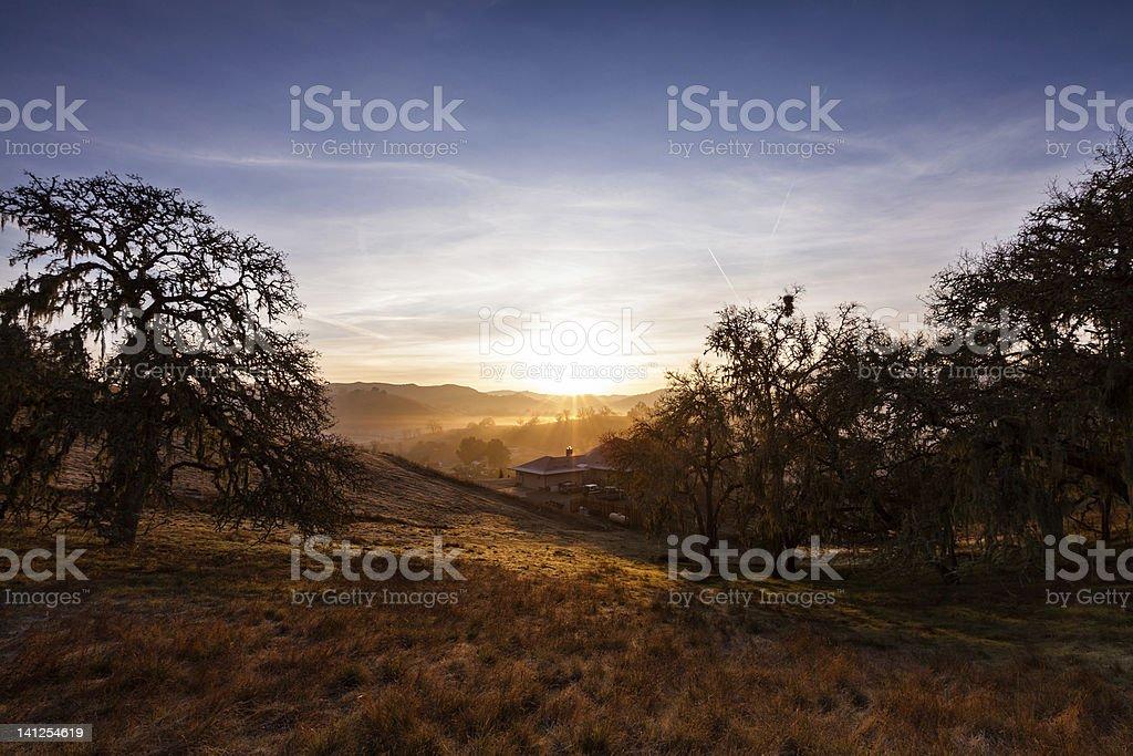Sunrise in Paso Robles stock photo