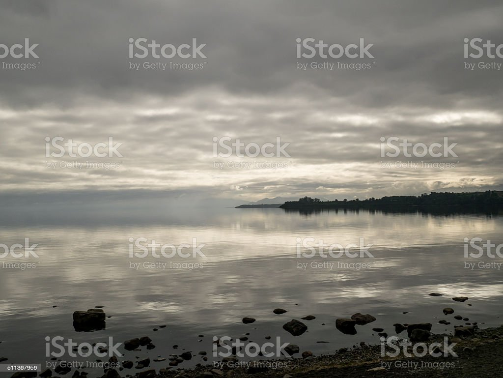Sunrise in Puerto Montt royalty-free stock photo