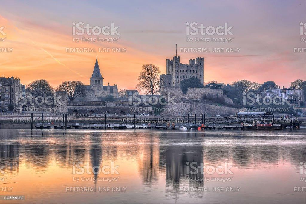 Sunrise in Rochester, Kent stock photo