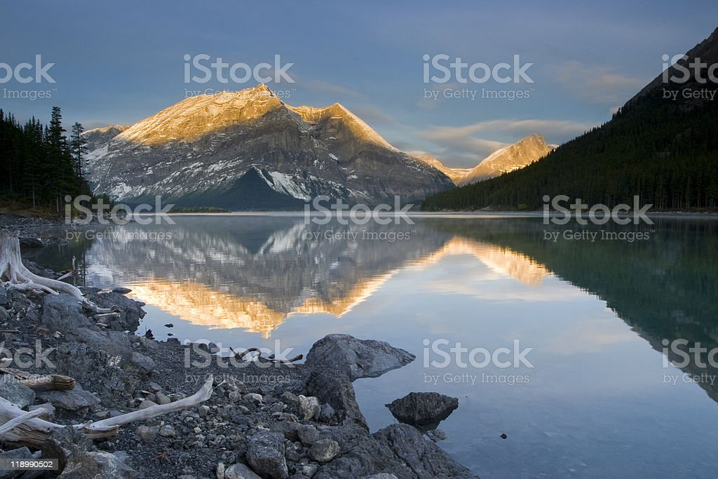 sunrise in rocky mountains royalty-free stock photo