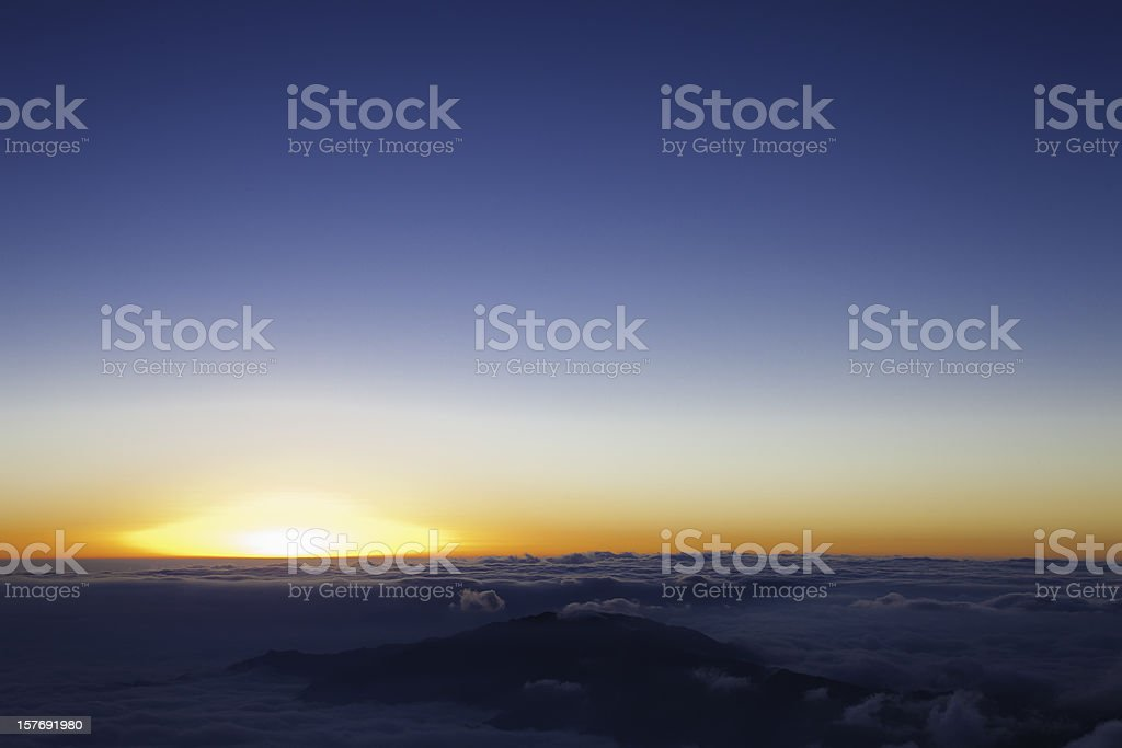 sunrise in sea of clouds royalty-free stock photo