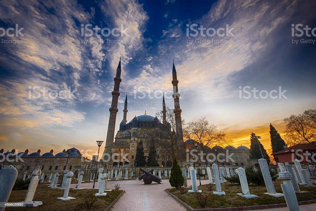 Sunrise in Selimiye stock photo