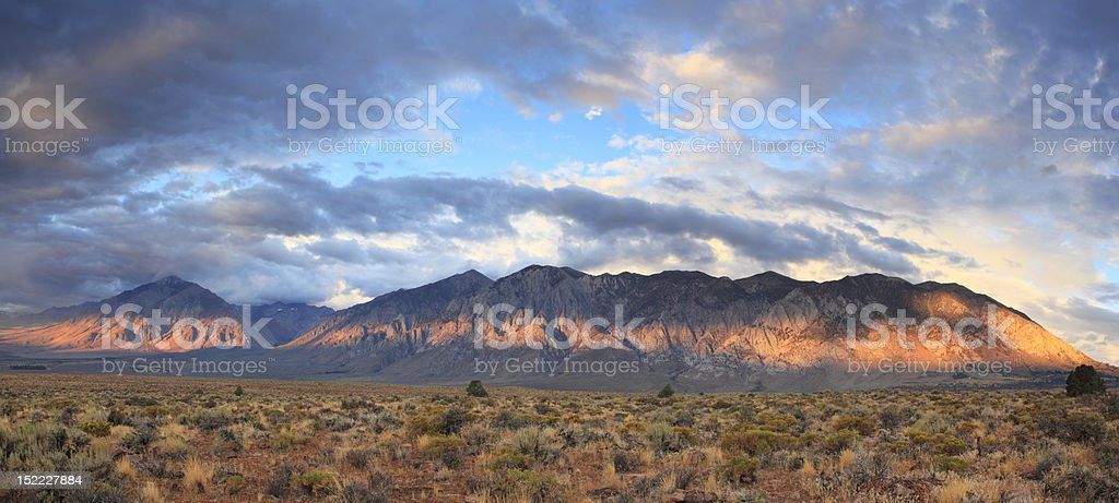 Sunrise in Sierra Nevada Mountains of California stock photo