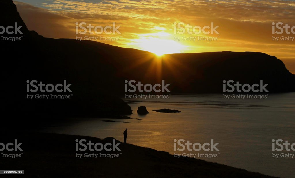 Sunrise in Skye stock photo