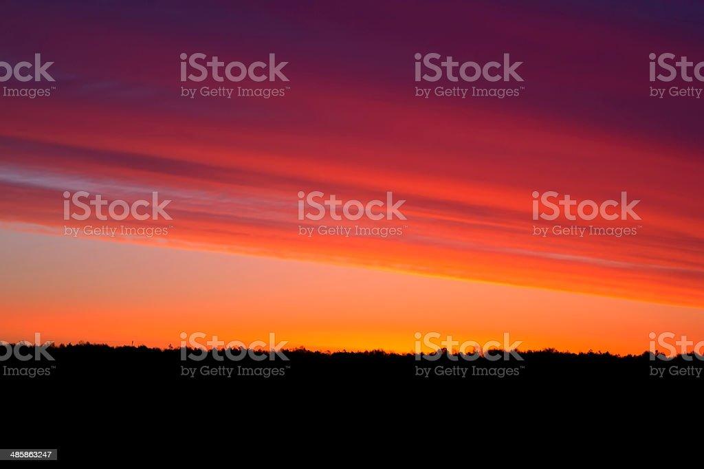 Sunrise in spring stock photo