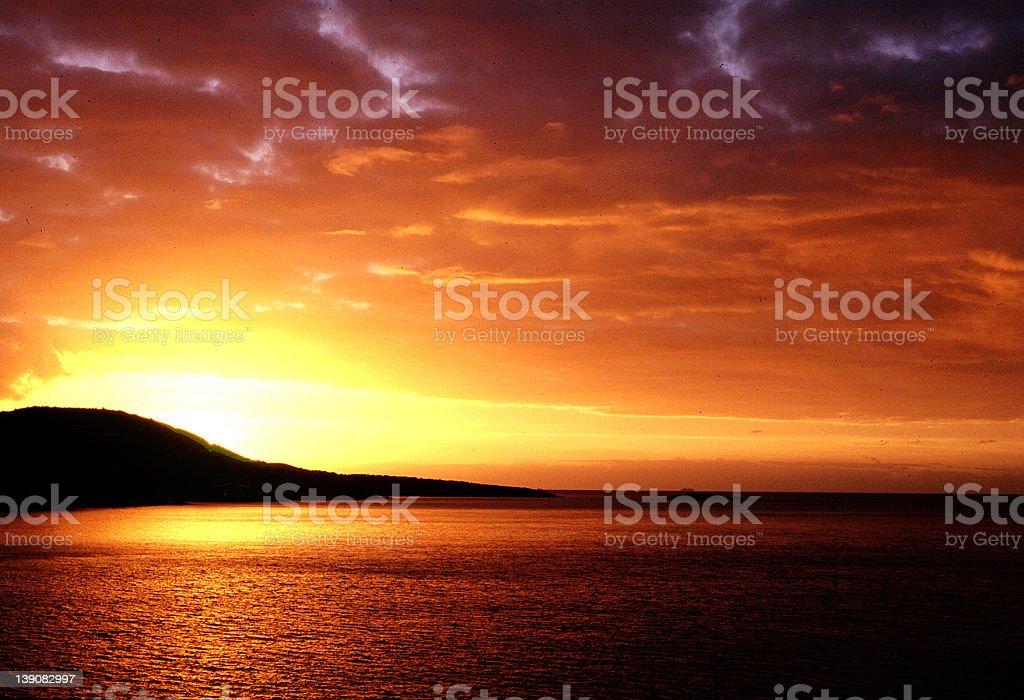Sunrise in St. Thomas royalty-free stock photo