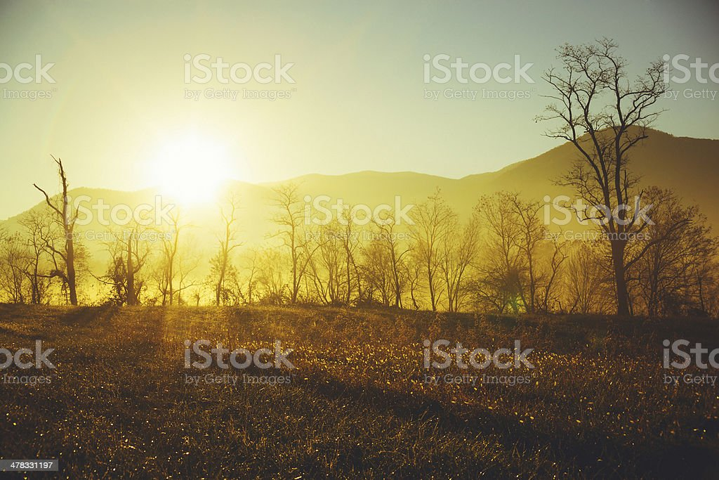 Sunrise in the countryside royalty-free stock photo