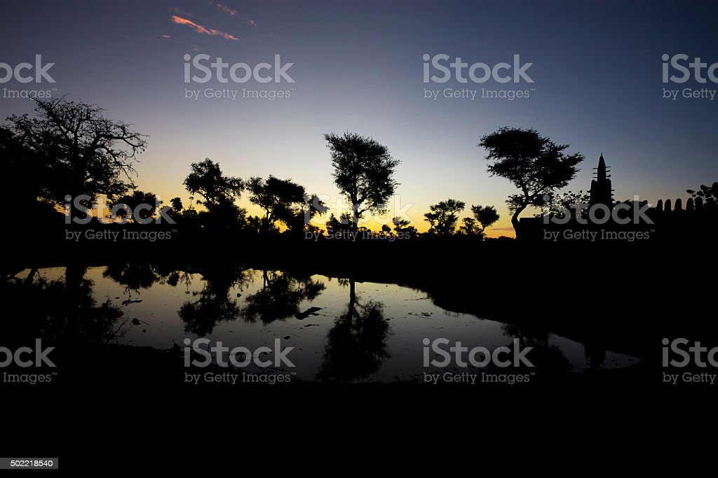 Sunrise in the Dogon Country stock photo