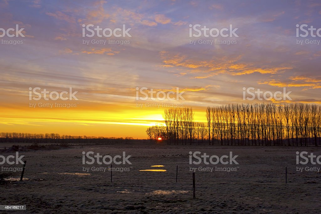 Sunrise in the early morning stock photo