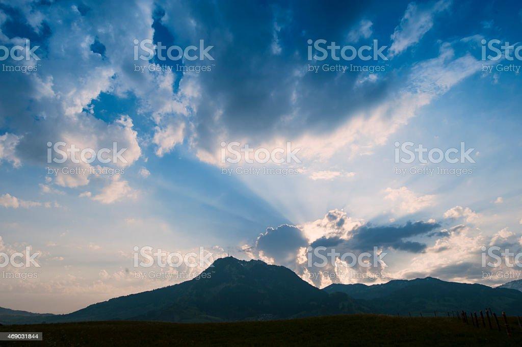 Sunrise in the German Alps stock photo