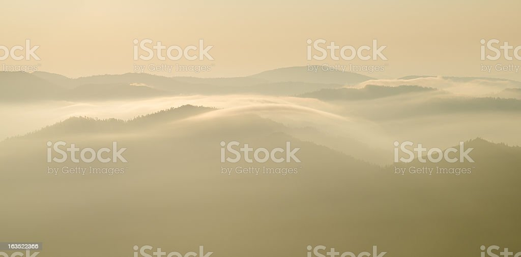 Sunrise in the Great Smoky Mountains royalty-free stock photo