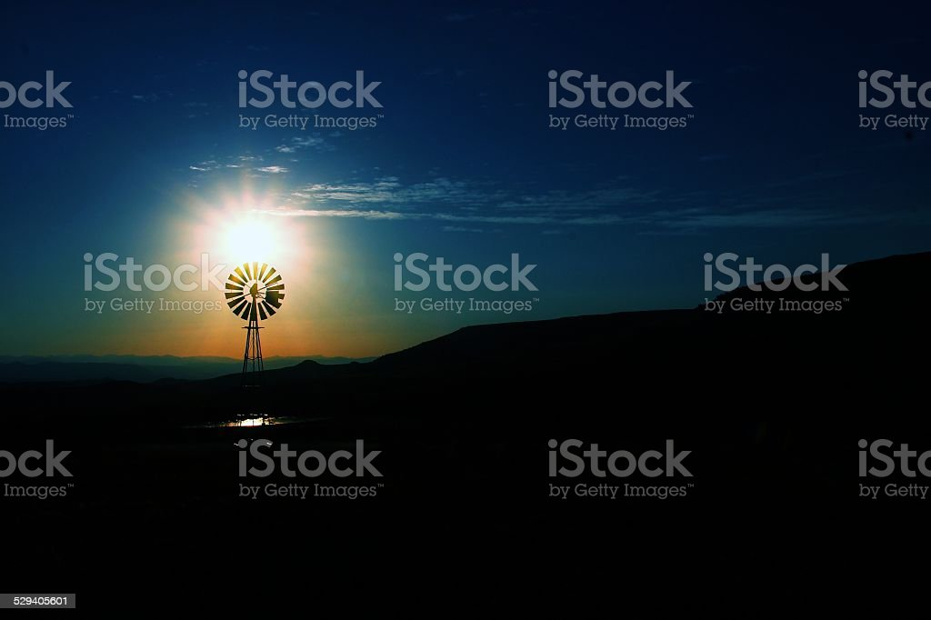 Sunrise in the Karoo, South Africa stock photo
