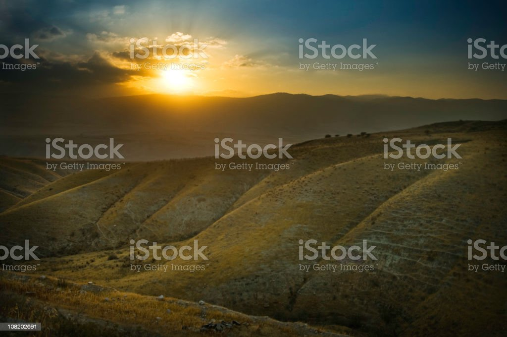 Sunrise In The Middle East stock photo