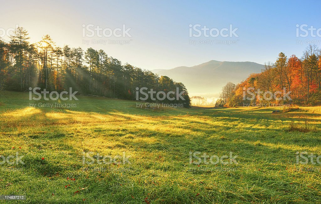 Sunrise in the Mountains royalty-free stock photo