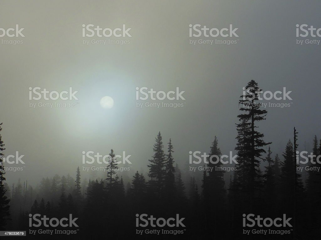 Sunrise in the North Cascades royalty-free stock photo