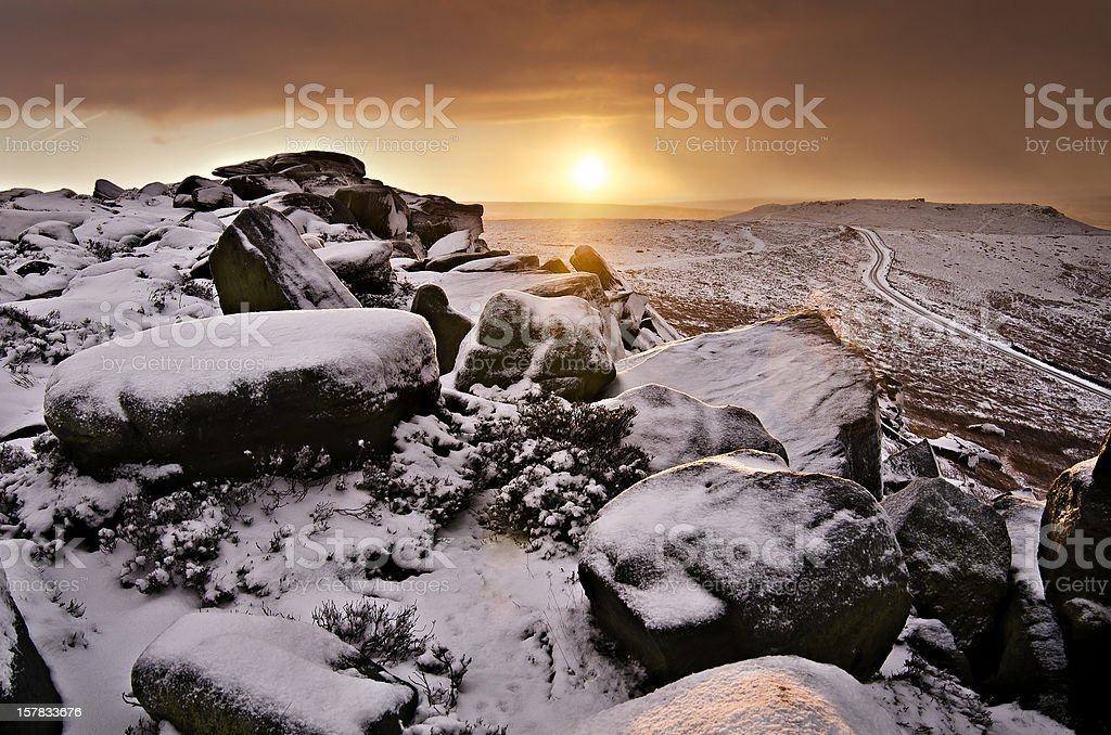 Sunrise in the peaks royalty-free stock photo