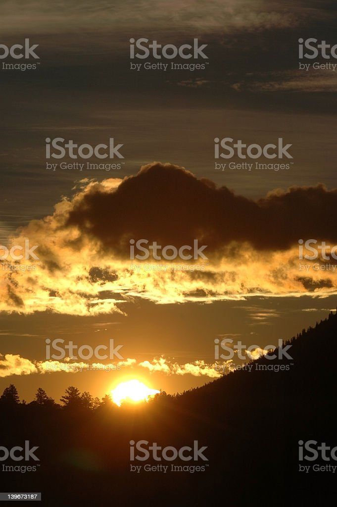 Sunrise in the Rockies (vertical) royalty-free stock photo