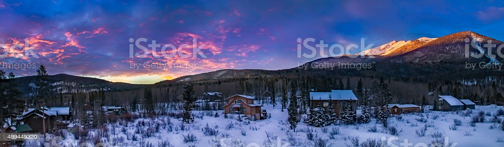 Sunrise in the Rockies stock photo