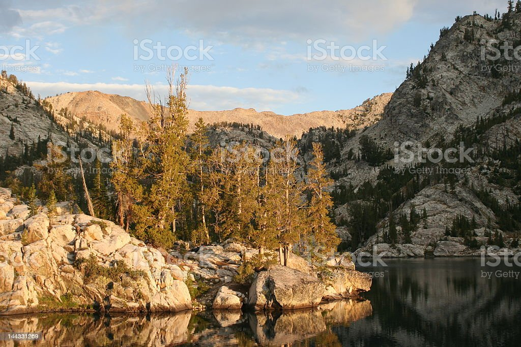 Sunrise in the Sawtooths royalty-free stock photo