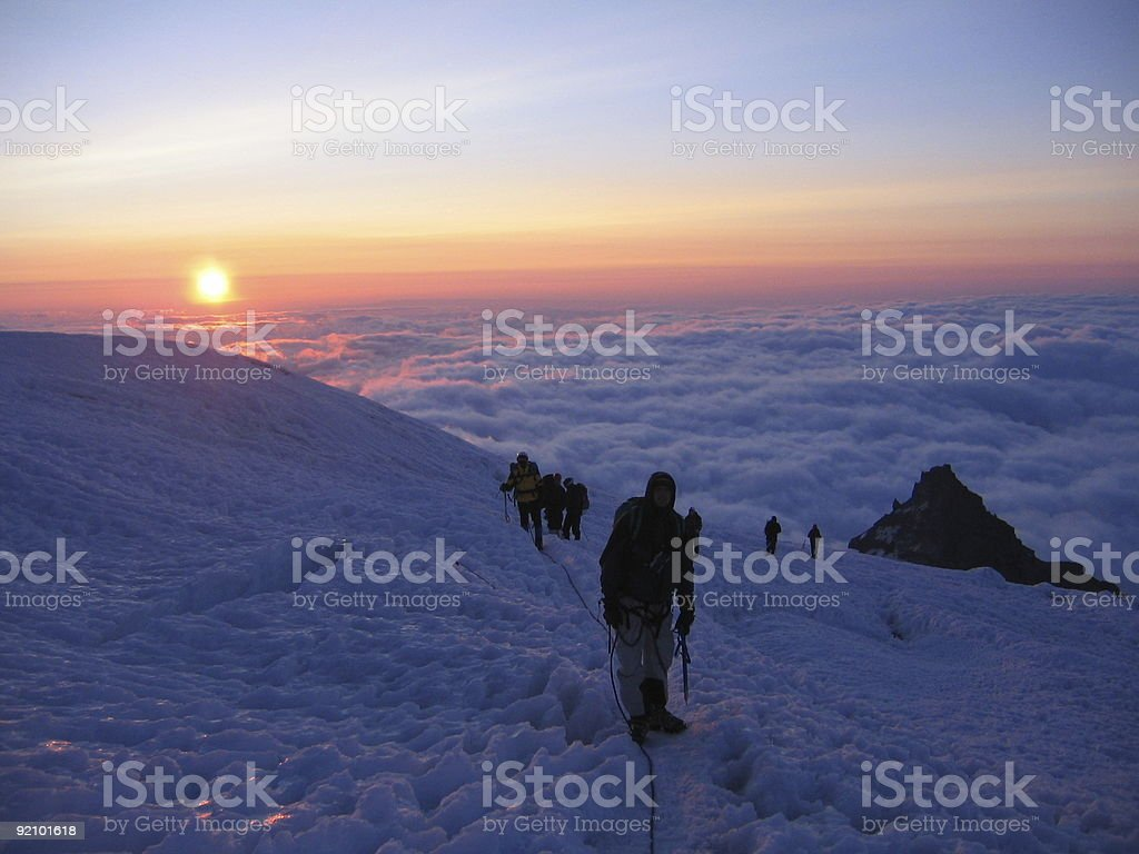 Sunrise in Thin Air royalty-free stock photo