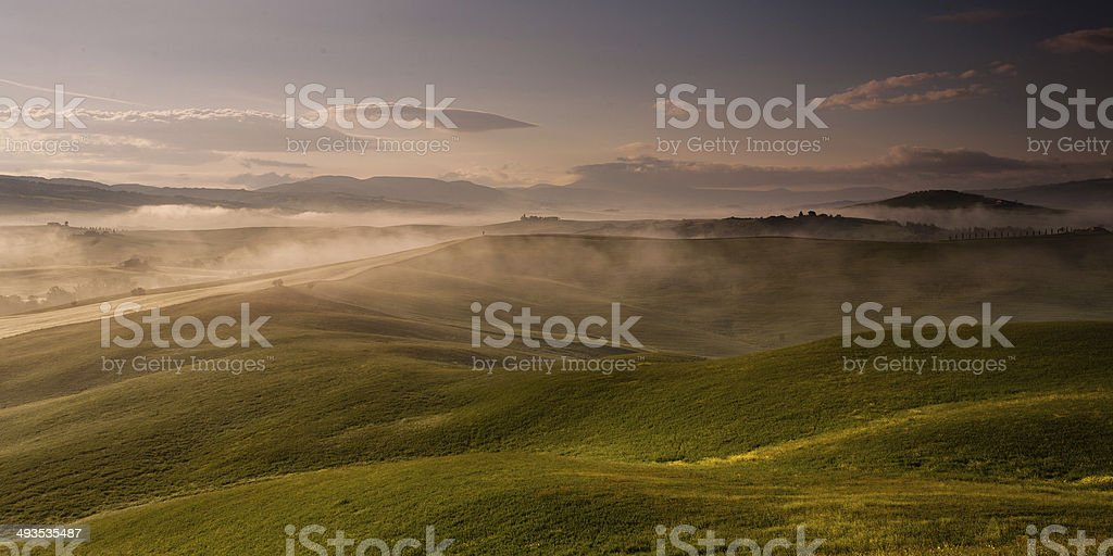 Sunrise in Tuscany, Italy royalty-free stock photo