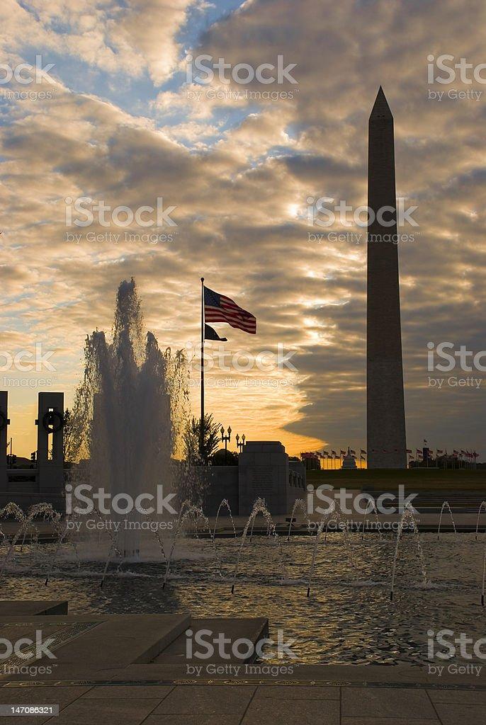 Sunrise in Washington, DC royalty-free stock photo