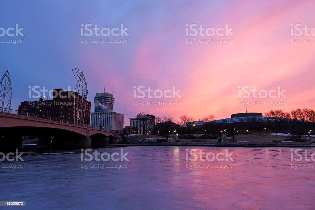 Sunrise in Wichita stock photo