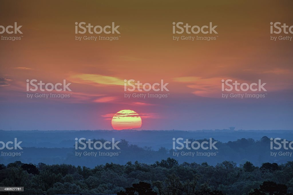 Sunrise incollaborating with background nature royalty-free stock photo