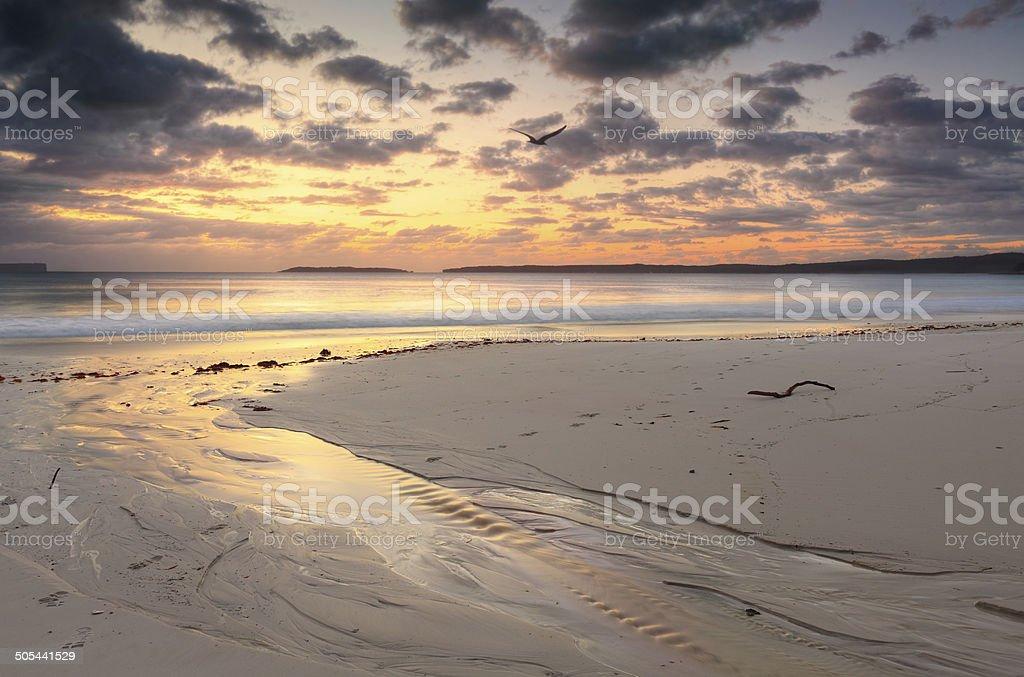Sunrise Jervis Bay Australia stock photo