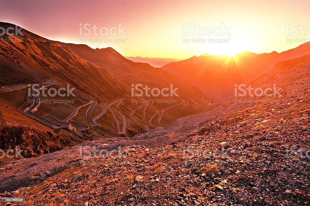 Sunrise landscape stock photo