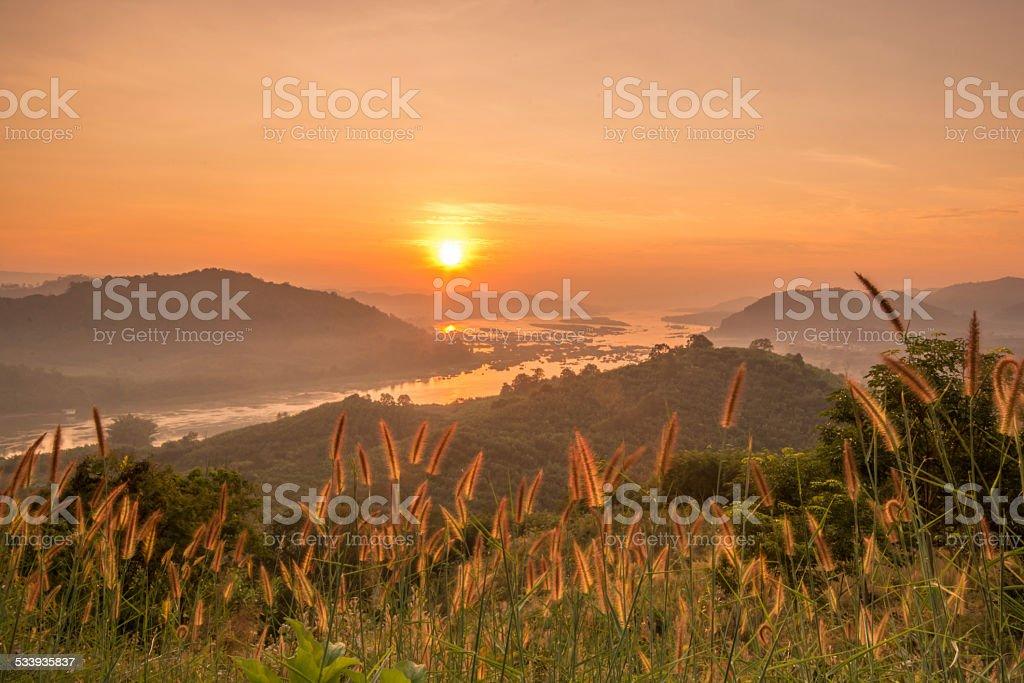sunrise landscape stock photo