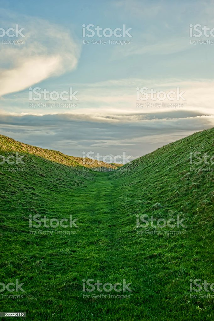 Sunrise - Landscape -  View from White Horse stock photo