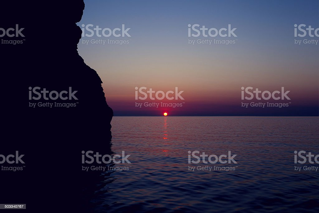 Sunrise Maditerranean Sea stock photo