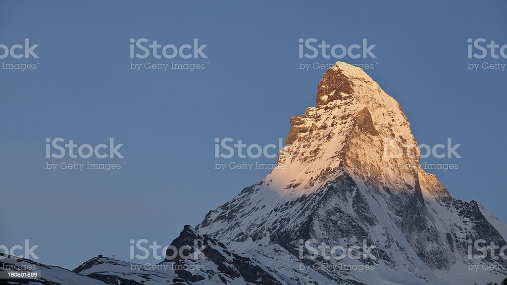 Sunrise - Matterhorn in Zermatt royalty-free stock photo