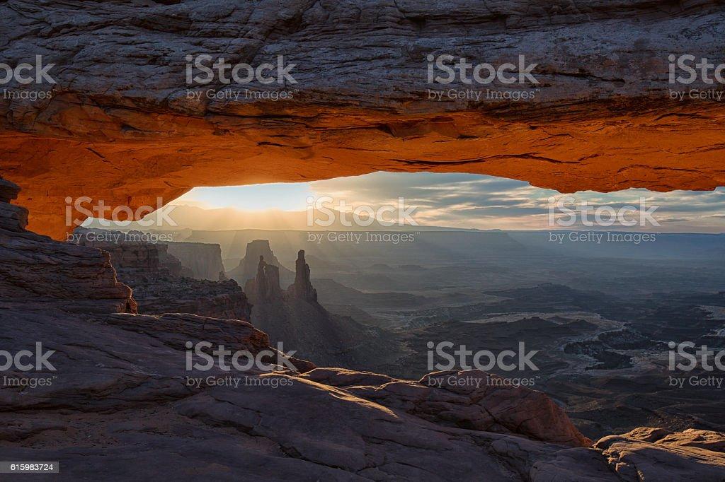 Sunrise, Mesa Arch stock photo