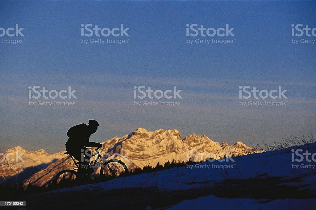 Sunrise Mountain Bike Ride stock photo