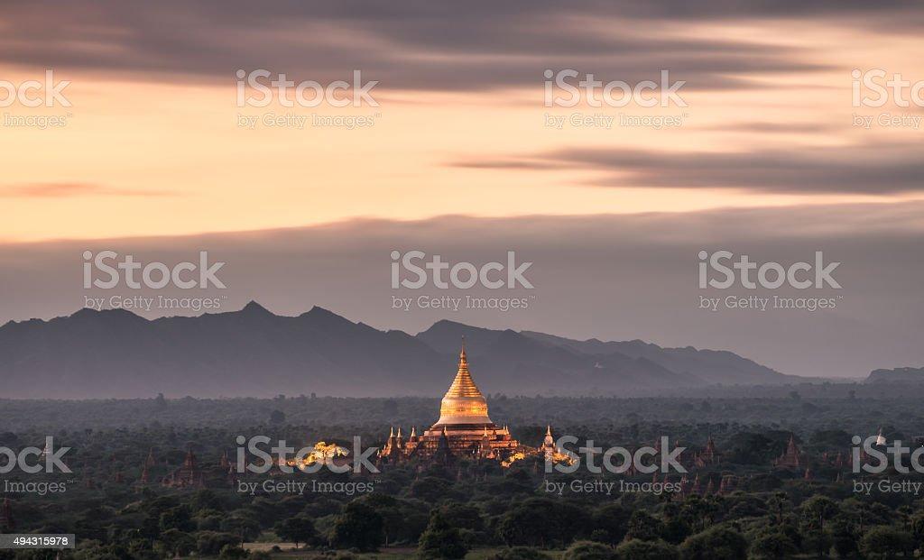 Sunrise of Bagan, Myanmar stock photo