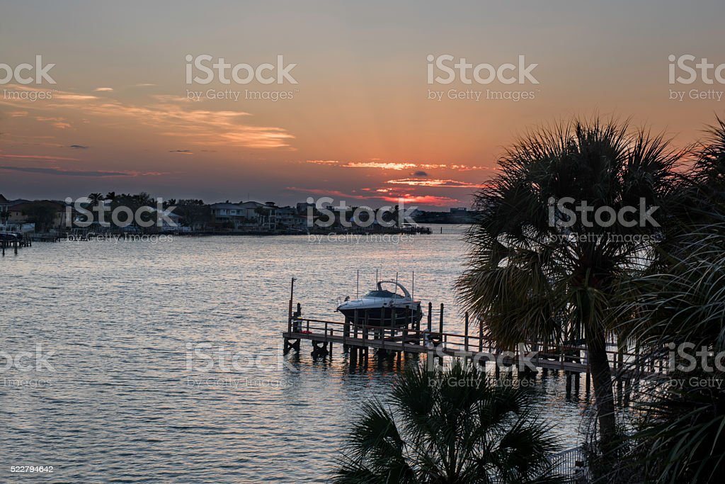 Sunrise of Clearwater stock photo