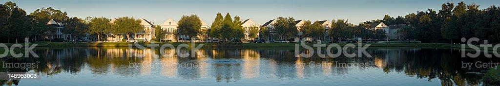 Sunrise on American suburbs royalty-free stock photo