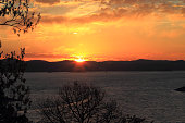 Sunrise on Broken Bow Lake in Southeast Oklahoma