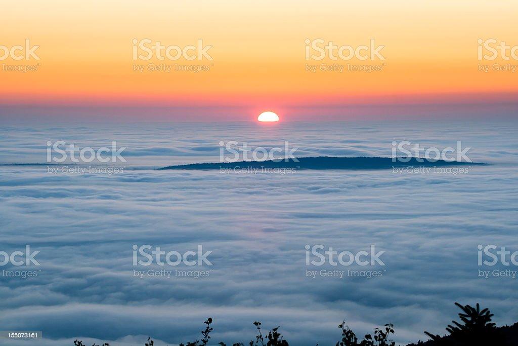 Sunrise on Cadillac Mountain stock photo