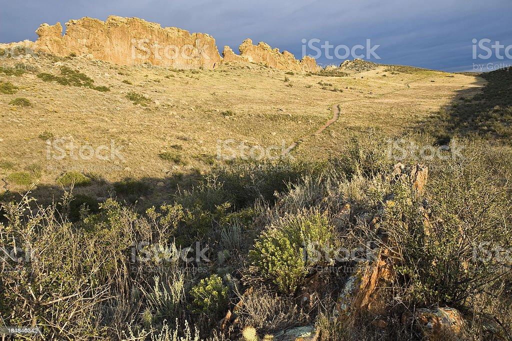 Sunrise On Devil's Backbone Open Space, Loveland, Colorado stock photo