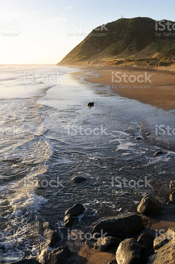 Sunrise on East Cape stock photo