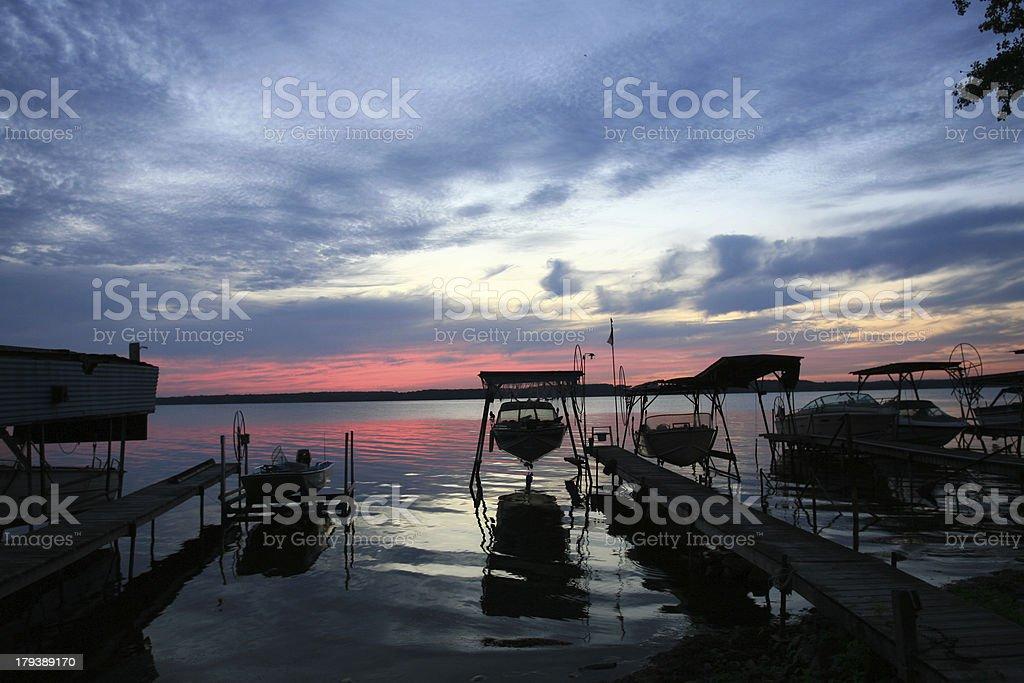 Sunrise on lake royalty-free stock photo
