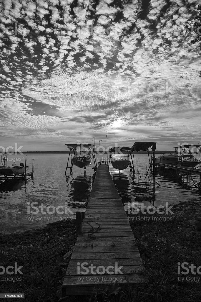Sunrise on lake royalty-free stock photo