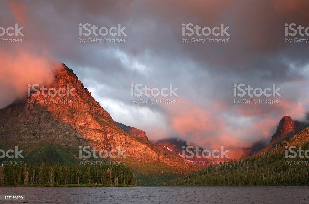 Sunrise on Lake Shore royalty-free stock photo