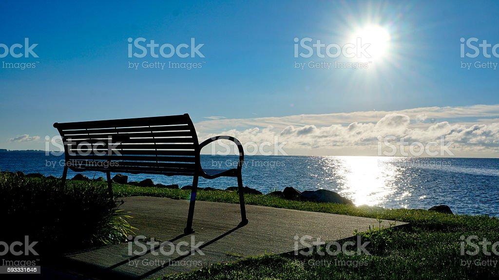 Sunrise on Lake St. Clair Michigan stock photo